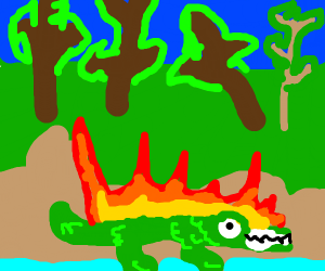 Crocodile in a Fire