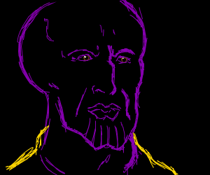 Thanos mixed with Squidward