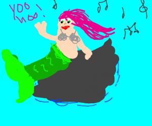 The mermaid beckons.