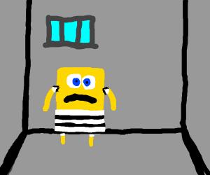 spongebob in prison