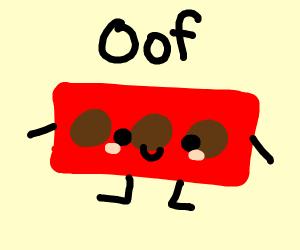 brick man saying oof