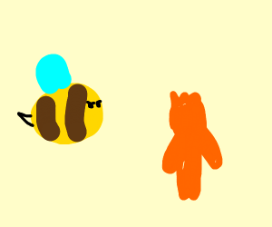 bee upset at sour patch kids