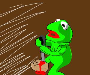 Kermit murdered somebody