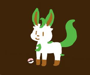 Leafeon and pokeball