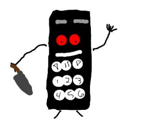 A creepy calculator/tv remote