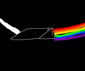 Prism divides light