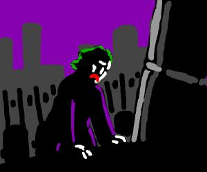 Joker mourns Batman