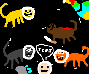 Cats in space, 1 is dead
