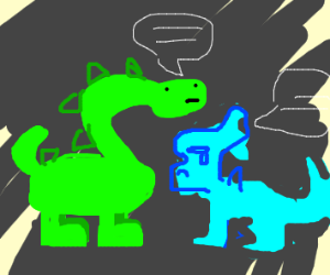 a confession between two dinosaurs