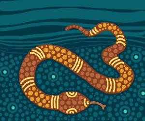 Underwater snake