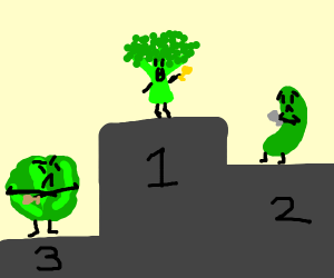 broccoli won first price