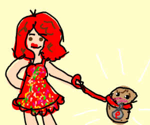 Walking your potato on a leash!