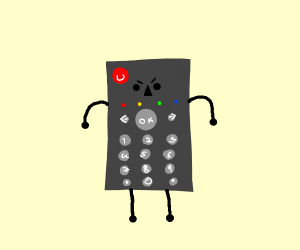 angry remote man