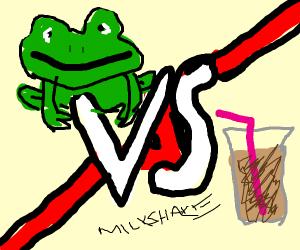 Frog vs Milkshake