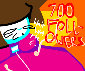 700 followers