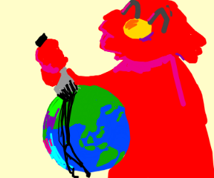 elmos stabbing the world