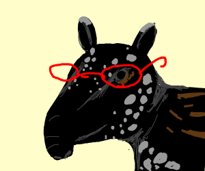 tapir with glasses