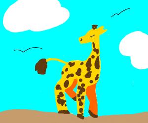 Beautiful Giraffe in African Plains