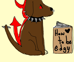 A very edgy drawing of satan