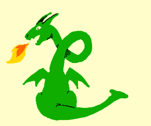 dragon with twisty long neck