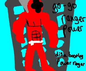 A bootleg power ranger