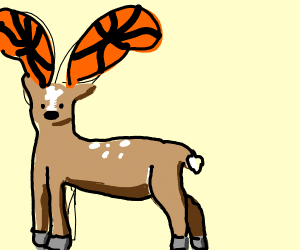 a really cool dear with butterfly-like antler