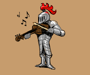 knight plays the violin