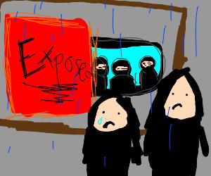 People sad at exposed gang