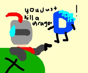 Knight Shooting a Dragon
