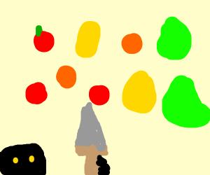 Fruit ninja, but with a broadsword