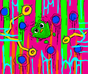 Duolingo owl on acid