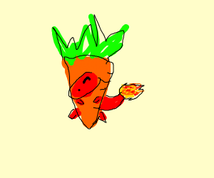 Charmander but it's also a carrot