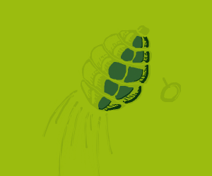 Thrown grenade