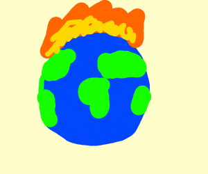 The Earth experiencing some global warming