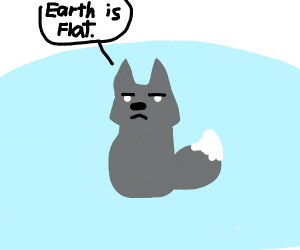 Flat earther wolf