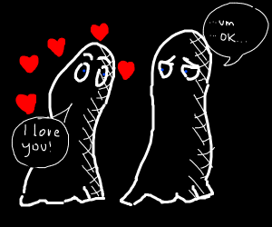Ghosts in love but one of them isn't really