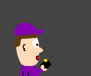 purple guy from mario gets new phone
