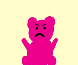 Angry pink coala