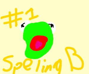 kermit won the nat'l spelling bee