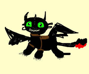 A cute Toothless!!!