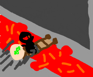 Thief crossing Lava