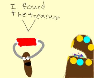 paintbrush found the treasure