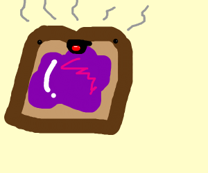 Toast with Purple Jelly