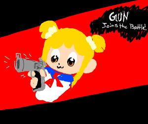 Gun joins the battle!