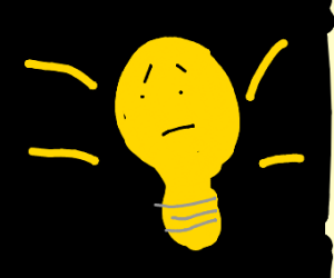 light bulb scared of the dark