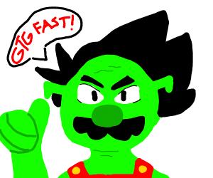 Shrek Goku Mario hybrid gotta go fast