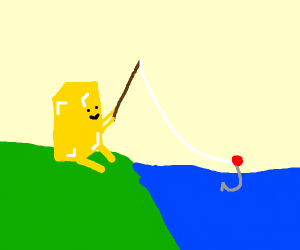 Stick of butter fishing