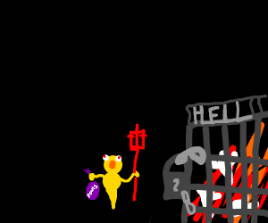 Yellmo guarding hell