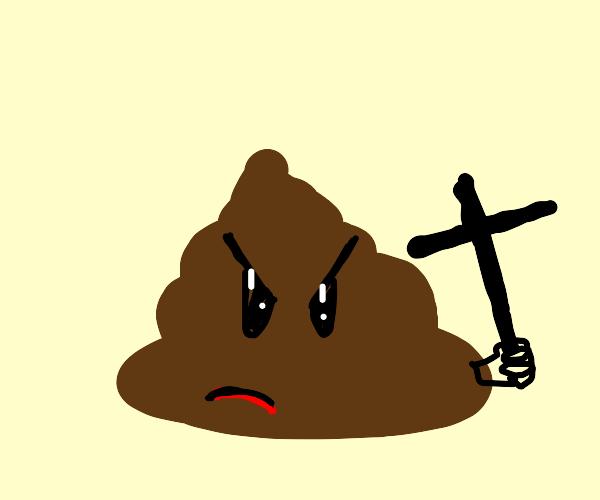 Angry Poo Cross