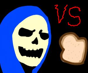 Skeleton Man vs Toast